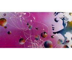 """"""" Rêve la vie en couleur """" bombe à peinture + acrylique"""