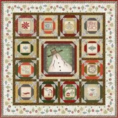 Christmas Whimsy Quilt Kit-this is simply adorable and the kit comes complete.