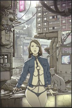 female_cyberpunk by AlexandrOpara.deviantart.com on @DeviantArt