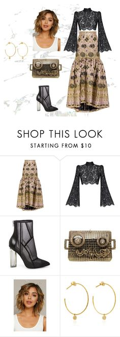 """golden"" by arwauna on Polyvore featuring mode, Temperley London, Rasario, Steve Madden et Yvonne Léon"