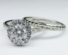 Engagement Ring & Matching Wedding Band