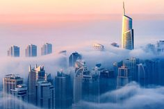 The City in the Clouds: Dubai Photographed from the 85th Floor
