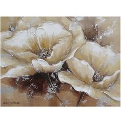 """Yosemite Home Decor 24 in. x 31 in. """"Full Bloom I"""" Hand Painted Canvas Wall Art, Multi 24 in. x 31 in. """"Full Bloom I"""" Hand Painted Canvas Wall Art Acrylic Flowers, Abstract Flowers, Hand Painted Canvas, Canvas Wall Art, Arte Floral, Floral Motif, Painting Inspiration, Flower Art, Original Paintings"""