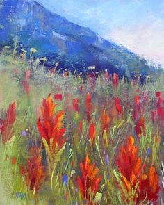 Painting my World: Indian Paintbrush Colorado Wildflower Painting - beautiful work on this page. I admire it greatly.