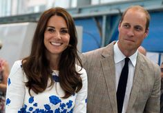 Catherine Duchess of Cambridge and Prince William Duke of Cambridge laugh during a visit and opening of the Centre of Excellence for Hayward Tyler...
