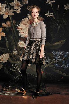 Gilt Bouquet Skirt #anthropologie