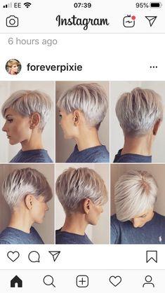 Edgy Short Hair, Super Short Hair, Short Hair Cuts For Women, Short Hair Styles, Cool Short Hairstyles, Short Pixie Haircuts, Blonde Pixie Hair, Short Hair Images, Sassy Hair