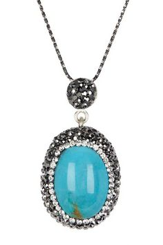 Turquoise The Perfectionist Pendant Necklace