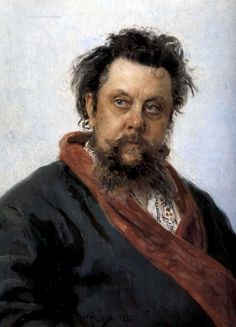 Ilia Repin, The portrait of the composer M. Mussorgsky  «Портрет композитора М.П.Мусоргского» 1881 г.
