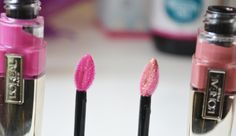 The Black Pearl Blog - UK beauty, fashion and lifestyle blog: L'OREAL GLAM SHINE STAIN SPLASH IN SHADES LOLITA AND MARILYN - REVIEW AND SWATCHES