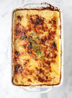 Roasted Garlic and Gouda Potato Gratin