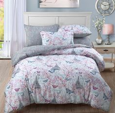 Blossom Paris Reversible Duvet Quilt Cover Bedding Set | Multi — Linens Range
