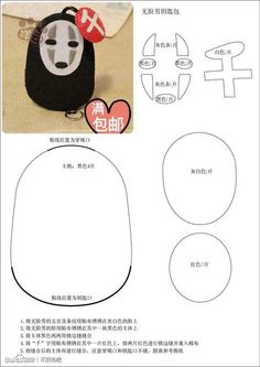 No Face Keychain Pattern