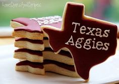 Texas Aggie cookies-so getting these for Traces birthday.