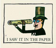 ¤ Illustration by Tomi Ungerer, 1964.