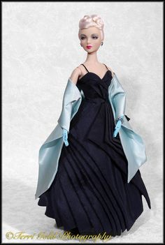 """IT Gene Marshall """"Rogue Rose"""" in 'Blue Parasol' gown Styling and Image by Terri Gold ~ The Studio Commissary"""