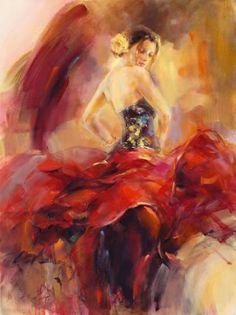 Dancer painting - Giro I Limited Edition Print by Anna Razumovskaya – Dancer painting Woman Painting, Figure Painting, Anna Razumovskaya, Spanish Dancer, Dance Paintings, Dance Art, Beautiful Paintings, Painting Inspiration, Female Art