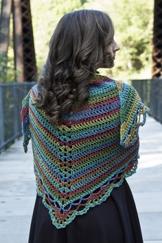 Tangier Wildflowers Shawl By Laura Krzak - Free Crochet Pattern - (ravelry)
