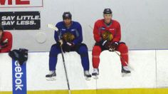 Jonny and Roszival at practice