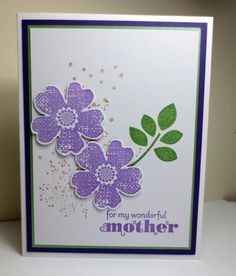Stampin Up Mothers Day Card, Delightful Dozen, Betsy's Blossoms, Flower Shop, Itty Bitty Backgrounds