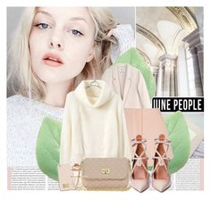 """Genuine People 5/1"" by tijana-djekic ❤ liked on Polyvore featuring Acne Studios, Finders Keepers, Balenciaga, MICHAEL Michael Kors, Valentino, white, pinkoctober, genuinepeople and Genuine_People"