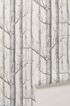 Love this totally unaffordable wallpaper from Anthropologie, but perhaps I can create my own...