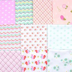 A pack of 10 half yards of light and fun fabrics from Michael Miller's Hank & Clementine and Robert Kaufman's Betty's Luncheonette collections. Just $30 through 6/25 with Free Shipping! Robert Kaufman, Michael Miller, Yards, Fabrics, Quilts, Free Shipping, Collections, Fun, Tejidos