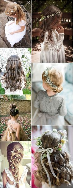 Flower Girls » 22 Adorable Flower Girl Hairstyles to Get Imspired »   ❤️ See more:  http://www.weddinginclude.com/2017/04/adorable-flower-girl-hairstyles-to-get-imspired/