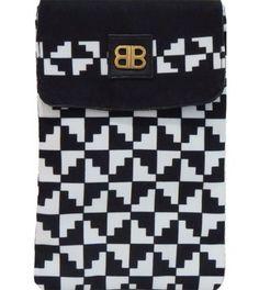 Liquorice Black & White iPad mini pouch