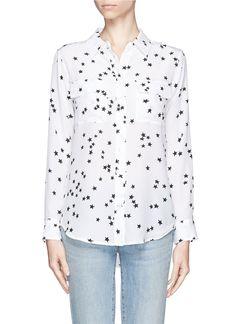 EQUIPMENT - Star print silk shirt - on SALE | White Blouses/Shirts Tops | Womenswear | Lane Crawford - Shop Designer Brands Online