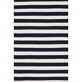 "Found it at Wayfair - Trimaran Striped Navy & Ivory Indoor/Outdoor Area Rug 2'6""x8' 124"