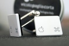 atelier moki #gioielli #accessori fatti-a-mano gemelli tasti mac #apple-