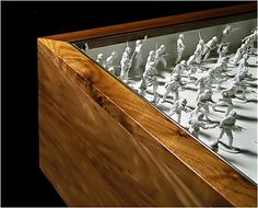 Toy Soldiers inside table top. Toy Soldiers, Symbols, Toys, Table, Image, Design, Art, Products, Activity Toys