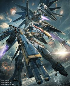 Wing Gundam Zero the Television Version and Freedom Gundam in Gundam Versus.