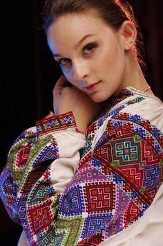#Ukrainian #beauty in ukrainian #tradition #embroidered costume Ukraine, Folk Fashion, Ethnic Fashion, Folk Embroidery, Embroidery Patterns, Ukrainian Dress, Ukrainian Recipes, Beautiful Costumes, Embroidered Blouse
