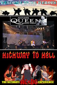 Saturday, June 9, 2012 -   4:30 PM - 9:30 PM  :: Welcome Home Heroes of the Palm Beaches / Absolute Queen & Highway To Hell!  Where: Meyer Amphitheater, 105 Evernia Ave., West Palm Beach, FL 33401  https://www.facebook.com/events/400771796628739/