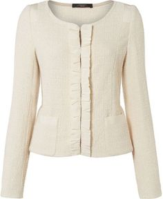 Colle Knitted Jacket with Rouche Trim - Lyst