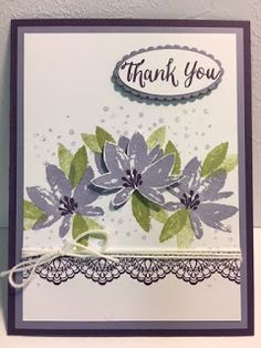 My Creative Corner!: Avant-Garden, Thank You Card, Delicate Details, 2017 Sale a Bration, Stampin' Up!, Rubber Stamping, Handmade Cards