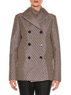 Blossom-print pea coat | Marni | MATCHESFASHION.COM UK
