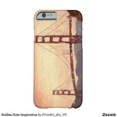 Golden Gate Bride painted image. iphone 6, iphone 6s, other iPhone, iPad, Samsung and Motorola smartphone covers.  This design is also available on numerous other items.  San Francisco California.