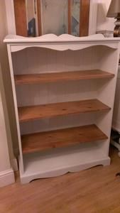 Shabby Chic Bookcase In White