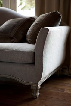 Borghese Sofa detail by @ebanistacollect from Collection Ten by Ebanista - Weathered pearl finish with antiqued Borghese 22K detailing. Discover more at www.ebanista.com