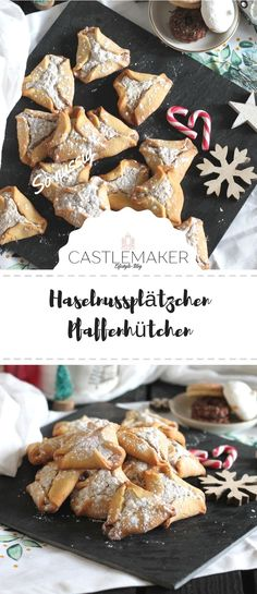 Leckere gefüllte Pfaffenhütchen mit Haselnussfüllung. Das Rezept für die köstlichen Haselnussplätzchen gibt es auf Castlemaker.de  #plätzchen #weihnachten #gebäck #advent #backen #rezepte Best Christmas Cookies, Sweet Bakery, Beautiful Christmas, Cookie Recipes, Cereal, Breakfast, Food, Food And Drinks, Recipes For Biscuits