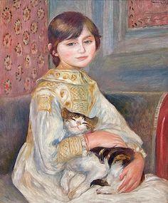 Pierre Auguste Renoir, Julie Manet (L'Enfant au chat), 1887