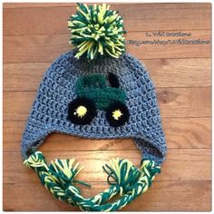 A personal favorite from my Etsy shop https://www.etsy.com/listing/463071580/crochet-tractor-beanie-free-shipping