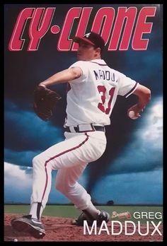 Greg Maddux Best Baseball Player, Better Baseball, Baseball Posters, Baseball Cards, Greg Maddux, Jordan 23, World Of Sports, Atlanta Braves, Mlb