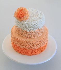 Peach Ombre Squiggle cake