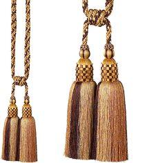 Rolls Gypsy Rope Curtain Tieback, Brown/Gold