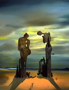 Salvador Dali, Archeological Reminiscence of Millet's Angelus, 1933-35. More
