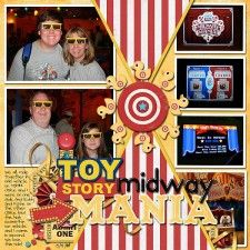 Toy Story Midway Mania - MouseScrappers - Disney Scrapbooking Gallery